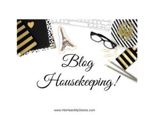 BlogHousekeeping!