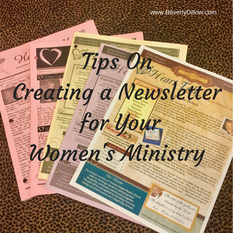 Tips On Creating a Newsletter for Your Women's Ministry